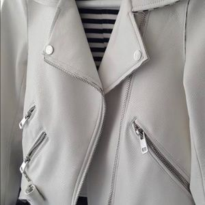 Zara leather jacket white